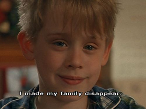 A11 home alone quotes. I made my family disappear.