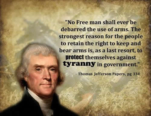 No free man shall ever be debarred the use of arms. The strongest reason for the people to retain the right to keep and bear arms is, as a last resort, to protect themselves against tyranny in government.