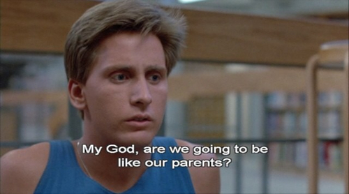 A13 breakfast club quotes - My god, are we going to be like our parents ?