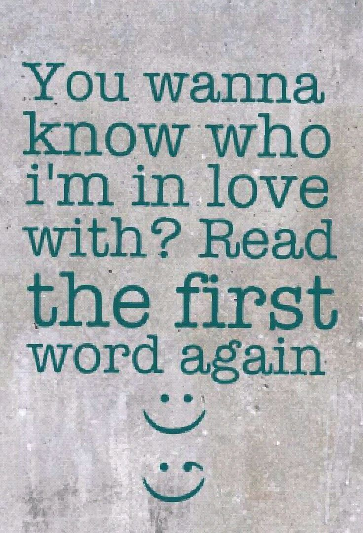 A2 smart quotes - You wanna know who I'm in love with ? read the first word again.