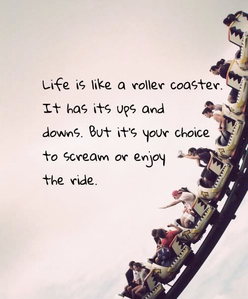 A22 Inspirational Life Quotes. Life is like a roller coaster. It has its ups and downs. But it's your choice to scream or enjoy the ride.