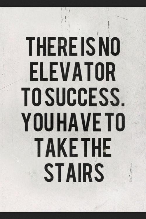 Inspiring Quotes - There is no elevator to success. you have to take the stairs.
