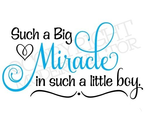baby boy quotes A5. Such a big miracle in such a little boy.
