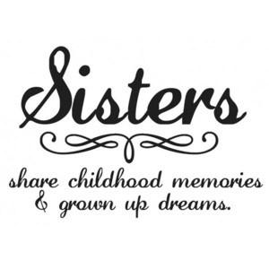 Quotes About Sisters A13. Sisters share childhood memories & grown up dreams.