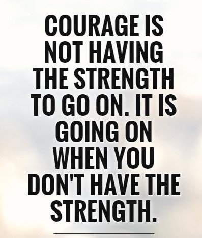 Quotes On Strength A11. Courage is not having the strength to go on. It is going on when you don't have the strength.