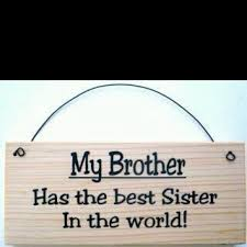 sibling quotes - My brother has the best sister in the world.
