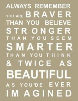 td jakes quotes A12. Always remember you are braver than you believe. Stronger than you seem. Smarter than you think and twice as beautiful as you ever imagined.